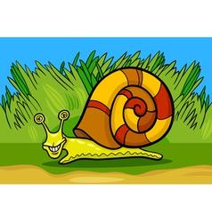 snail mollusk cartoon vector image vector image