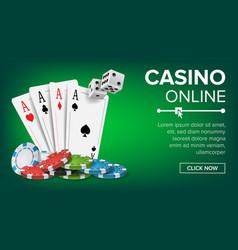 casino poker design casino theme fortune vector image
