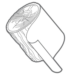 outline log paper vector image