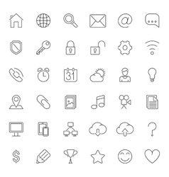 Thin Line Web Icons vector image