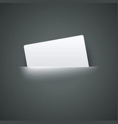 White Empty Label label in pocket vector image vector image