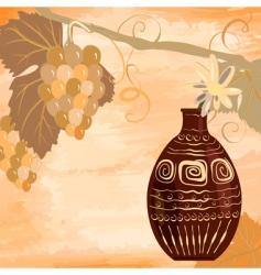 grunge vine design vector image vector image