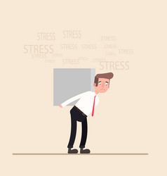 young businessman with stress business concept vector image