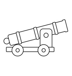 cannon icon outline style vector image vector image