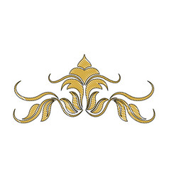 golden crest decoration elegant vignette image vector image