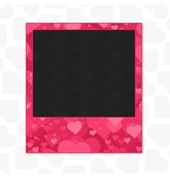 Heart photo frame vector image vector image