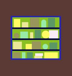 icon in flat design bookshelf vector image