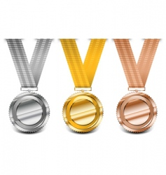 medal collection vector image vector image