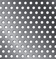 Silver pattern background Metallic circle texture vector image vector image