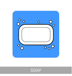 soap flat icon of hygiene and beauty products vector image vector image