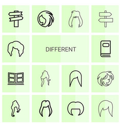14 different icons vector