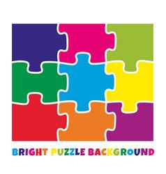 9 bright colorful puzzle pieces vector
