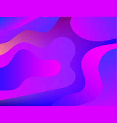 abstract background with color fluid shapes vector image