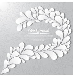 Abstract floral background with drops and leaves vector image