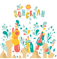 amazing thailand songkran festival design on white vector image