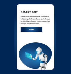 artificial intelligence robot future android staff vector image
