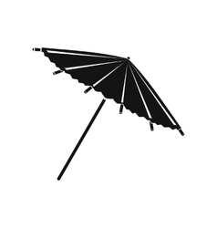 Asian parasol or umbrella icon simple style vector