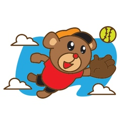 Bear Catching Ball vector