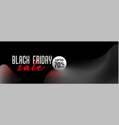 beautiful black friday 3d style sale banner design vector image
