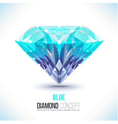 Blue diamond shape vector image