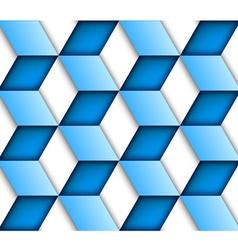 Blue tile seamless background vector