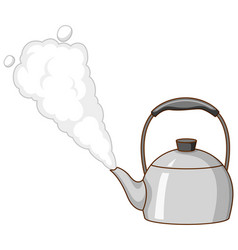 Boiling kettle on white background vector