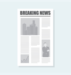 breaking news newspaper icon vector image