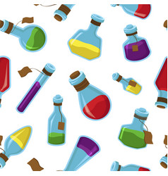 Bright magical potions color seamless vector