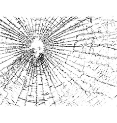Broken glass grunge texture white and black vector