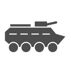 Btr solid icon amphibious vehicle vector
