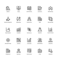 business and finance line icon 19 vector image
