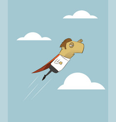 businessman is flying like superman vector image vector image