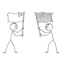 Cartoon two angry men politician vector