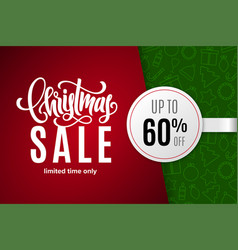 christmas holiday sale 60 percent off vector image