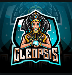 cleopsis esport mascot logo design vector image
