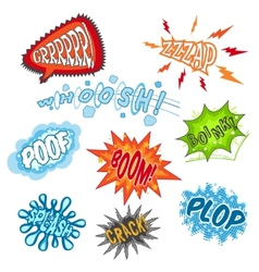 Comic Sound Set vector image