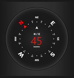 Compass digital hud navigate vector