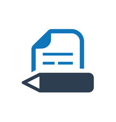 Copy writing article writing icon vector