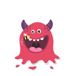 cute monster mascot and bee vector image