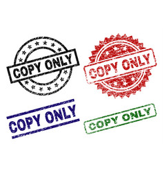 Damaged textured copy only stamp seals vector