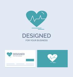 Ecg heart heartbeat pulse beat business logo vector