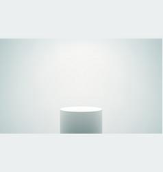 empty white podium vector image