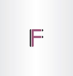 F letter icon design sign vector