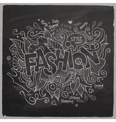 Fashion hand lettering On Chalkboard vector
