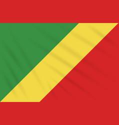 Flag republic of congo swaying in wind vector