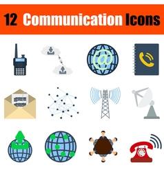 Flat design communication icon set vector image