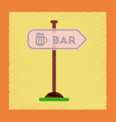 flat shading style icon sign of bar vector image