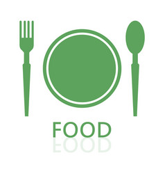 flatware and plate icon vector image