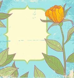 Flower vintage yellow vector