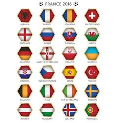 Football flag icons vector